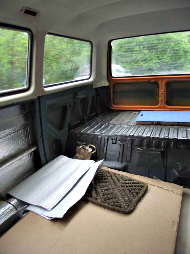 how the back of the van looked back in May