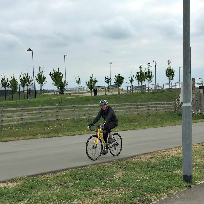 Its me at the Cyclopark in Gravesend yesterday!