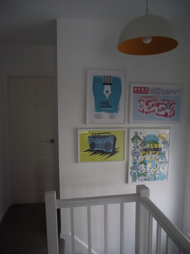 What prints we have hung and our lampshade